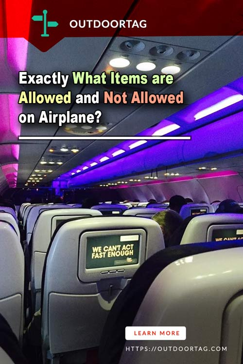 Exactly What Items are Allowed and Not Allowed on Airplane?