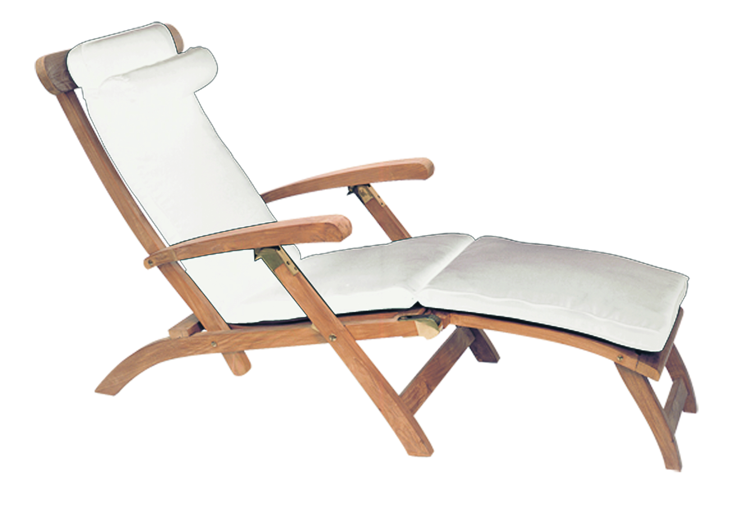 teak steamer chair hammock stands diy american cushion by royal collection outdoor more white