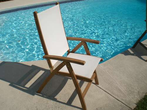 Teak Florida Reclining Sling Folding Chair By Royal Teak   FLC 0