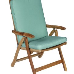 Folding Chair With Cushion Covers For Plastic School Chairs Estate Fullback By Royal Teak Collection Outdoor Reclining Esfc Canvas Spa Colored