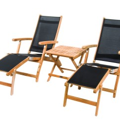 Teak Steamer Chair Wall Rail Sling By Royal Collection Stsl Outdoor