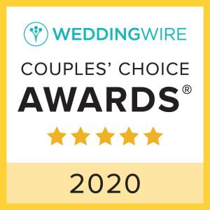 WeddingWire 2020 Couples' Choice Award for Outer Banks Weddings by Artz Music & Photography