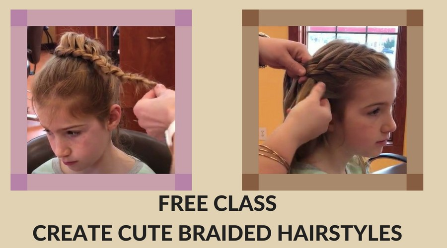 Free Class - Create Cute Braided Hairstyles for Little Girls ...