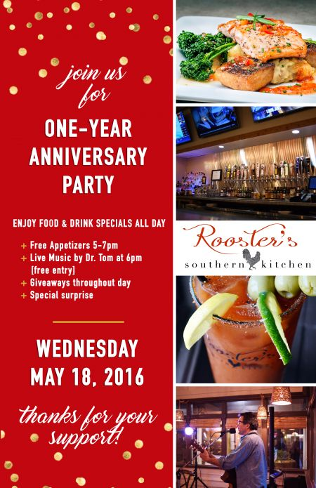 Roosters Oneyear Anniversary Party  Roosters Southern