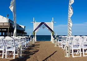 I Do OBX Chairs Wedding Outer Banks