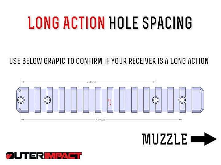 Ruger American long action hole spacing measurements