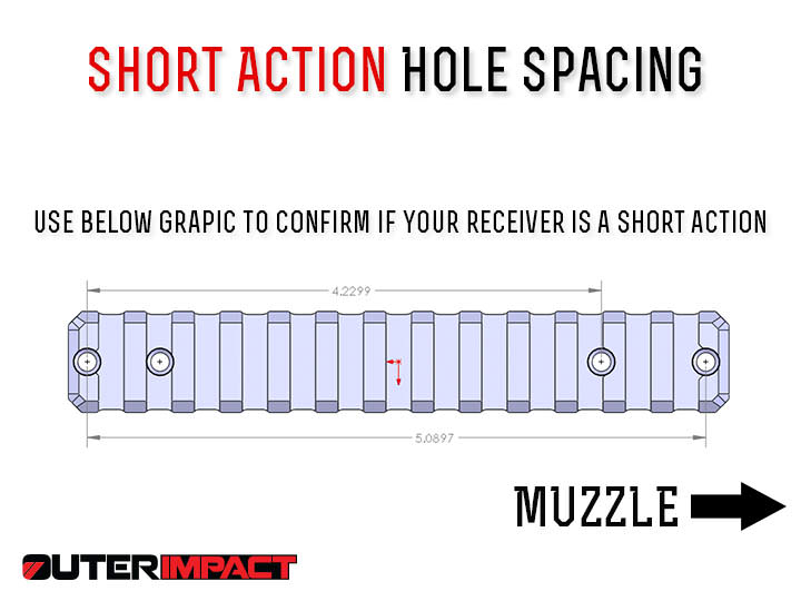 Remington 700 short action hole spacing measurements