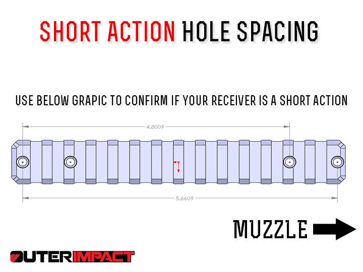 savage short action hole spacing measurements
