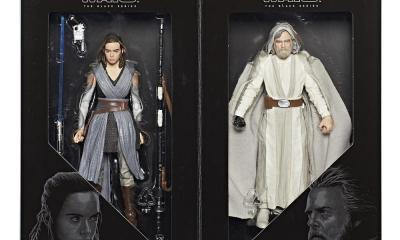 Star Wars Black Series Luke Skywalker and Rey Figures