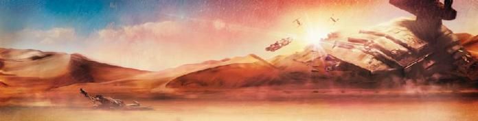 Star Wars Dogfight at Sunset by Rich Davies