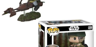 Star Wars Leia on Speeder Bike Deluxe Pop! Vinyl Bobble Head