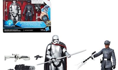 Star Wars: The Last Jedi Finn (First Order Disguise) vs. Captain Phasma 3 3/4-Inch Figures