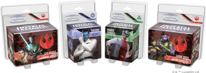 Tyrants of Lothal four Ally Packs and Villain Packs
