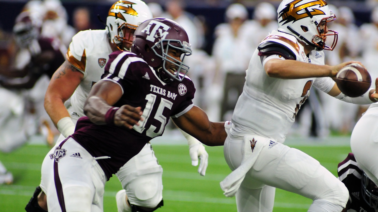 No rankings this week, but if there were #1 would likely be A&M, led by the impressive Garrett. (Photo: Kirby Clarke, TexAgs)