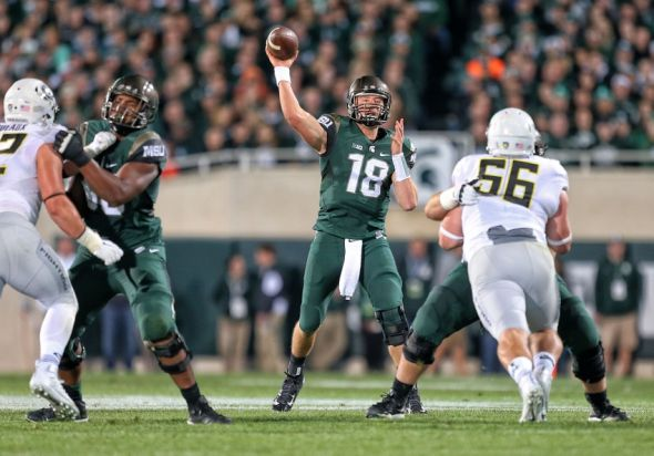 Michigan State QB Connor Cook (Photo: Mike Carter, USA Today Sports)