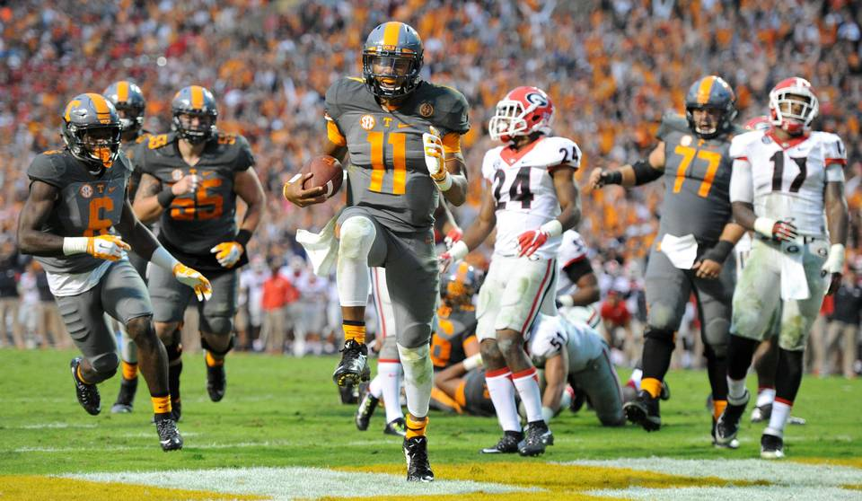 Tennessee QB Joshua Dobbs (Photo: Wade Payne/AP)