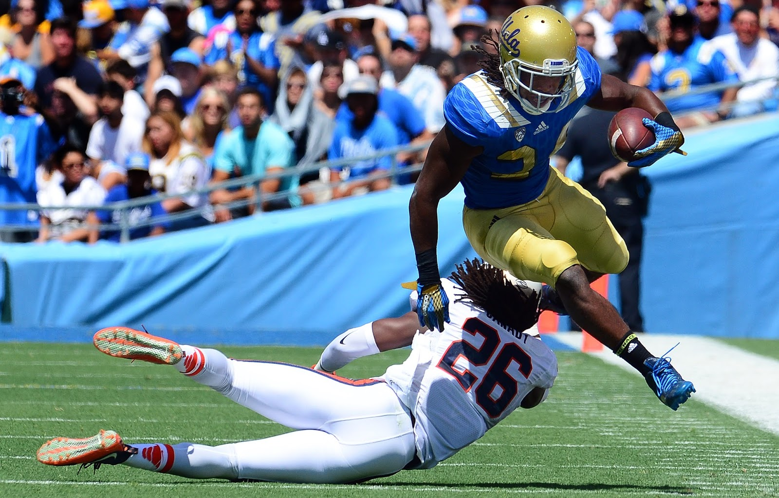 UCLA RB Paul Perkins is the star of the Bruin offense. (Photo: Keith Birmingham/Pasadena Star-News)