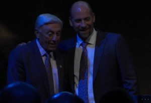 John Smoltz presents Phil Neikro with the MLBPAA Lifetime Achievement Award
