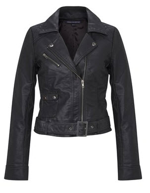 French Connection pleather motorcycle-style jacket ATHENA JACKET $148.00