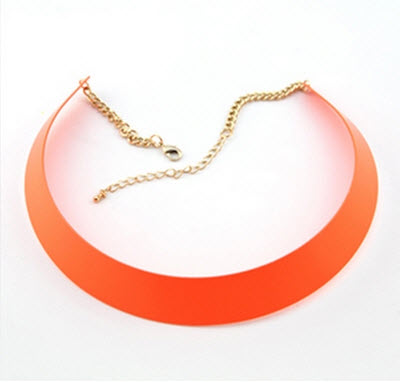 Fluorescence Colored Glossy Torque Necklace €28.5