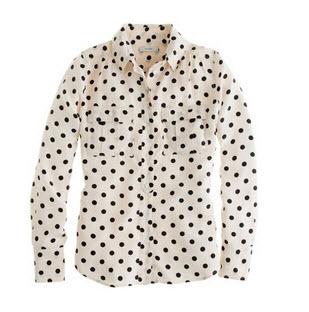 J.Crew Blythe blouse in polka dot $128