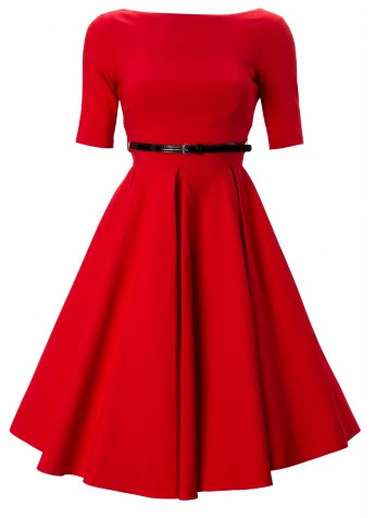 So Couture Red Hepburn Full Circle 50s retro shift dress 155 euro