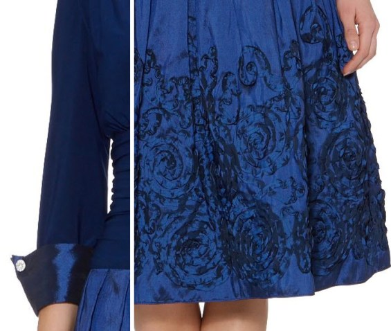 Eliza J Embroidered Hem Cuff Dress