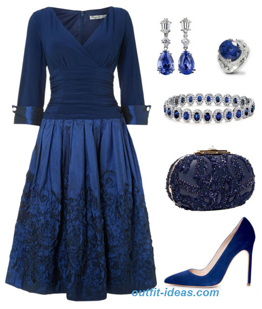 outfit Idea with Cobalt Cocktail Dresses by Eliza J