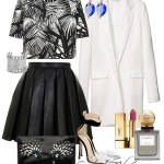 COAT WITH LEATHER COLLAR – outfit