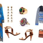 How to wear tan Chloe Sandals, Tabula Rasa macrame jacket and Etro plisse dress