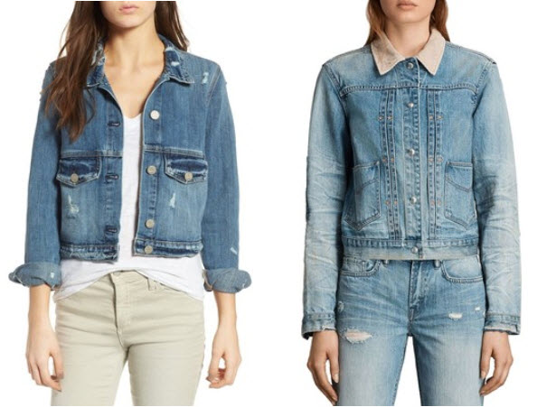 Women s Mcguire Bowie Crop Denim Jacket and Allsaints Serene Denim Jacket