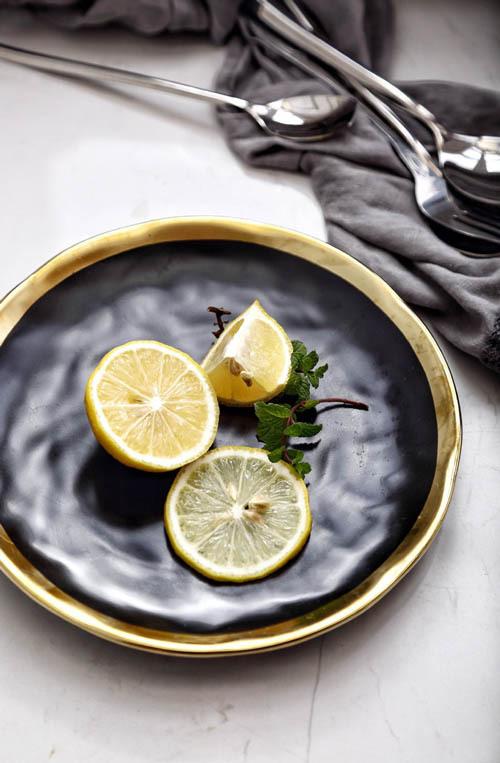 ceramic gold plate