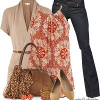 Printed Halter Top Spring Outfit