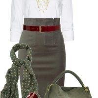Stylish High Waisted Pencil Skirt Work Wear