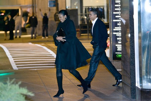 Michelle and Barack Obama out for a not so private night out!