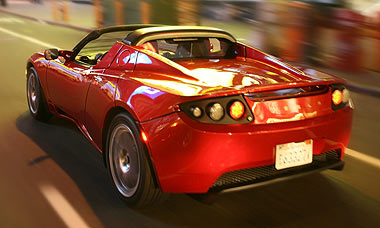 See no exhaust pipe! 0-60 3.6 seconds! Cost $4 per 240 mile charge to run!