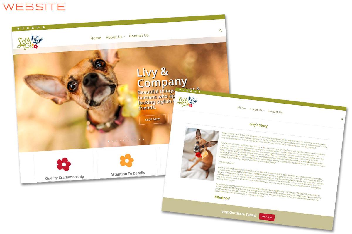 Livy And Company Branding Website