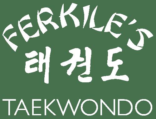 ferkiles taekwondo logo white
