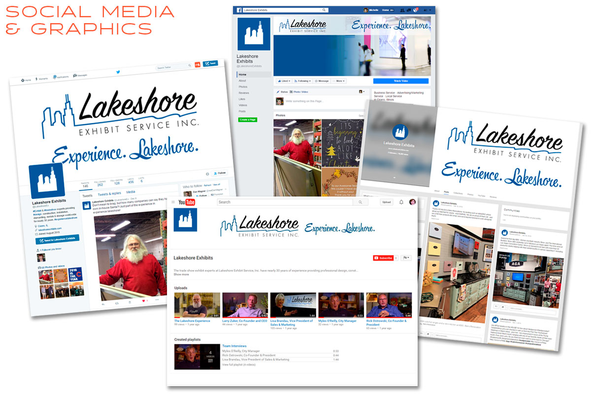 Lakeshore Exhibits Social Media