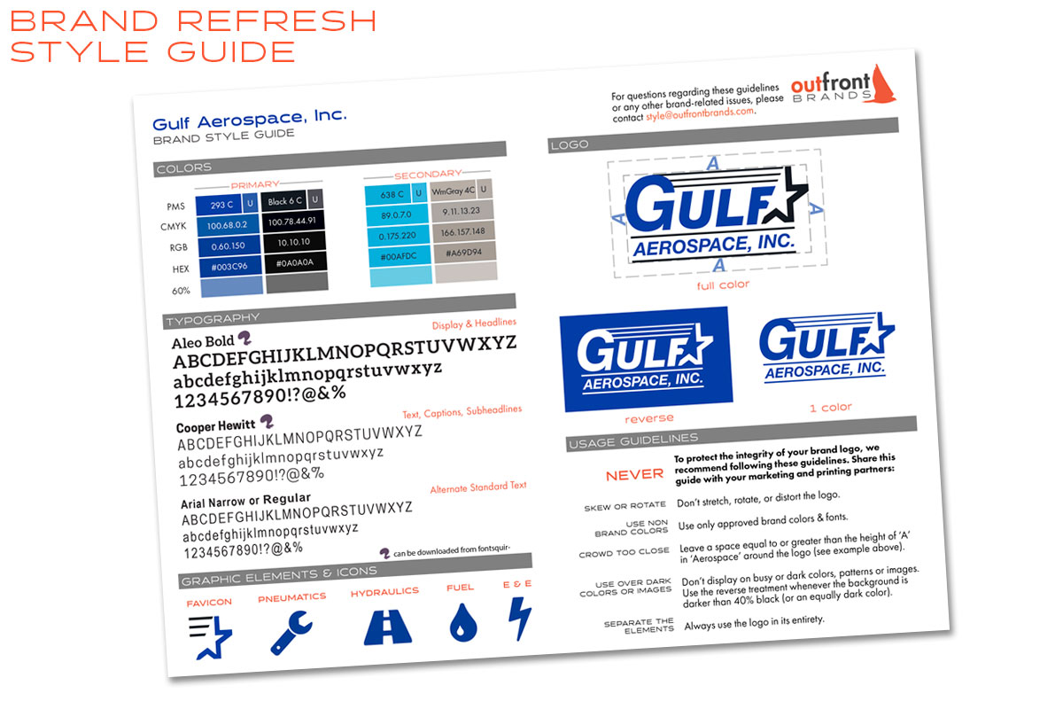 Gulf Aerospace Branding Style Guide