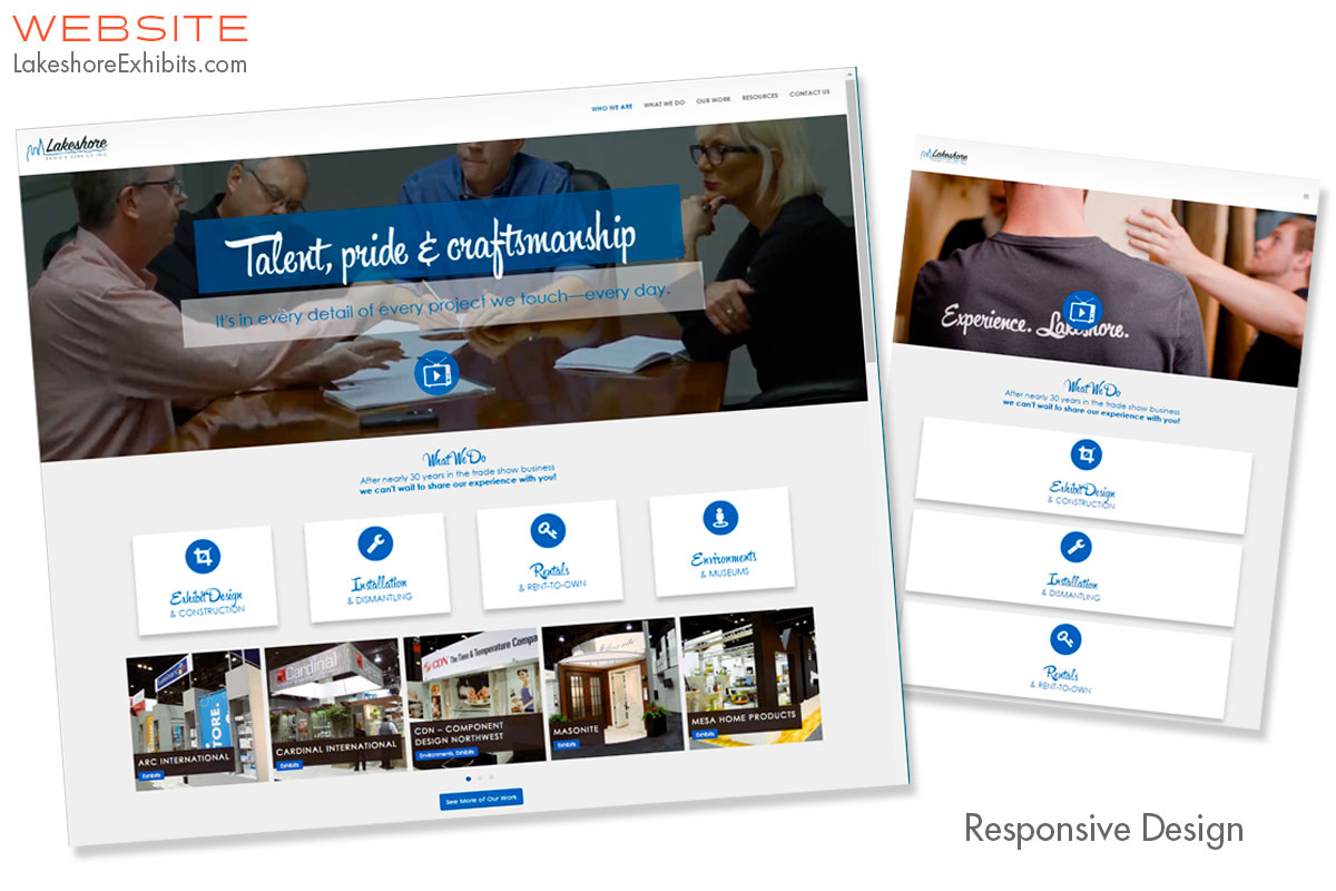 Lakeshore Exhibits Website Design & Production