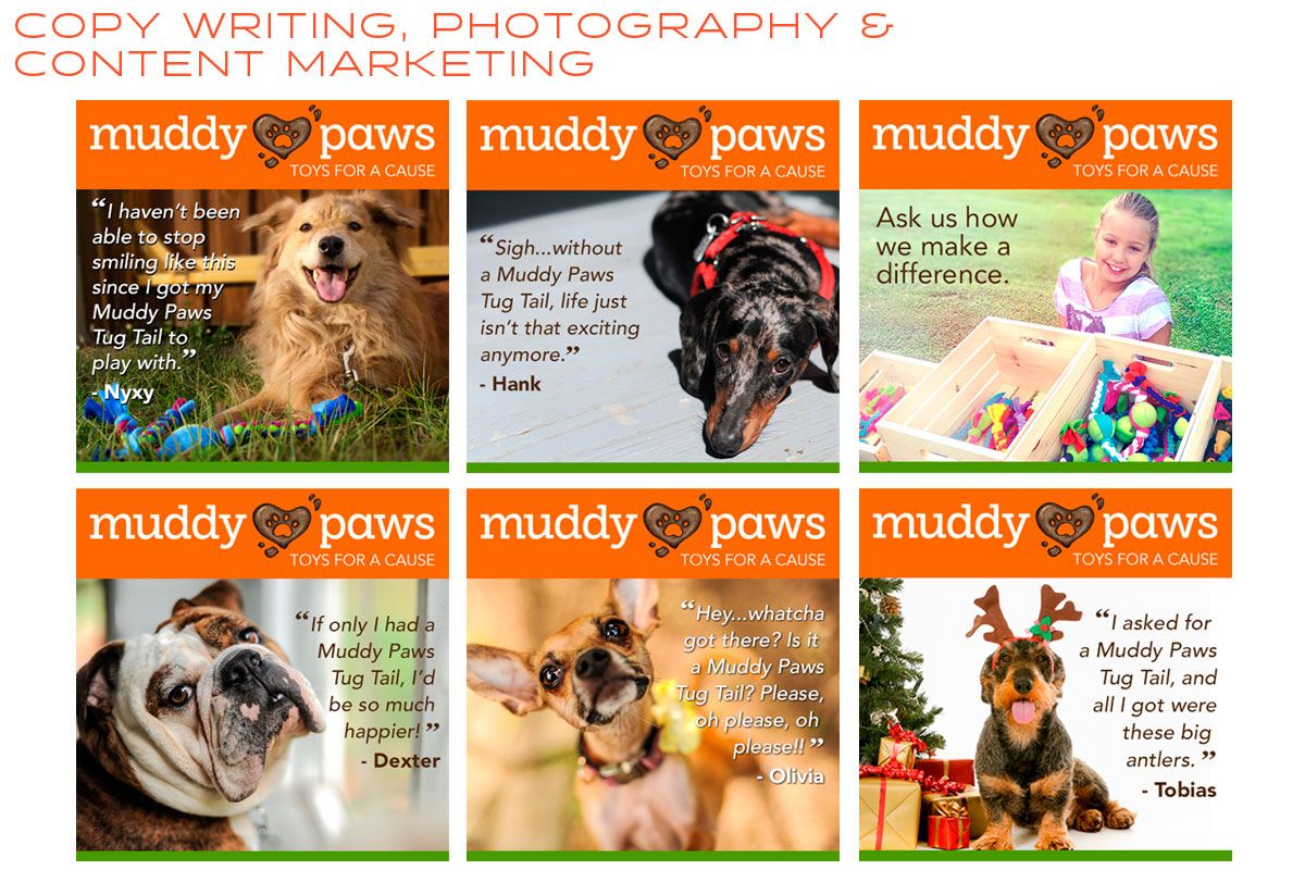 Muddy Paws Toys Content Marketing, Photography & Copy Writing