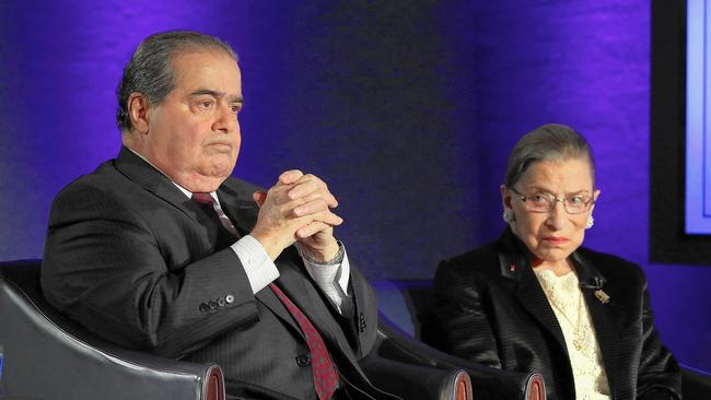 Ruth Bader Ginsberg Pays Tribute To Antonin Scalia  Out Front