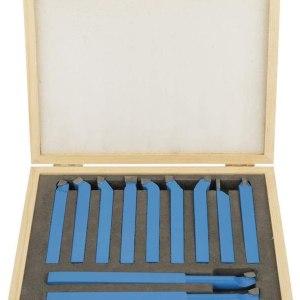 Lot de 11 outils de tour en alliage de carbone 10mm