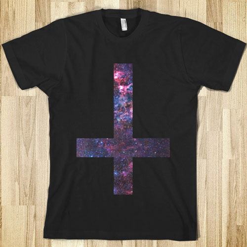 SKREENED-galaxy-inverted-cross-faraway-places.american-apparel-unisex-fitted-tee.black.w760h760