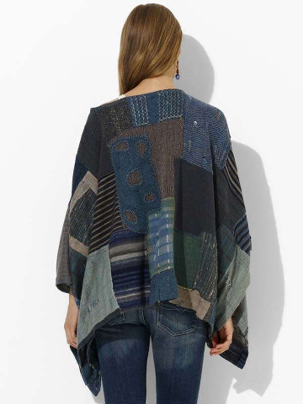 blue-label-luxe-knit-patchwork-poncho