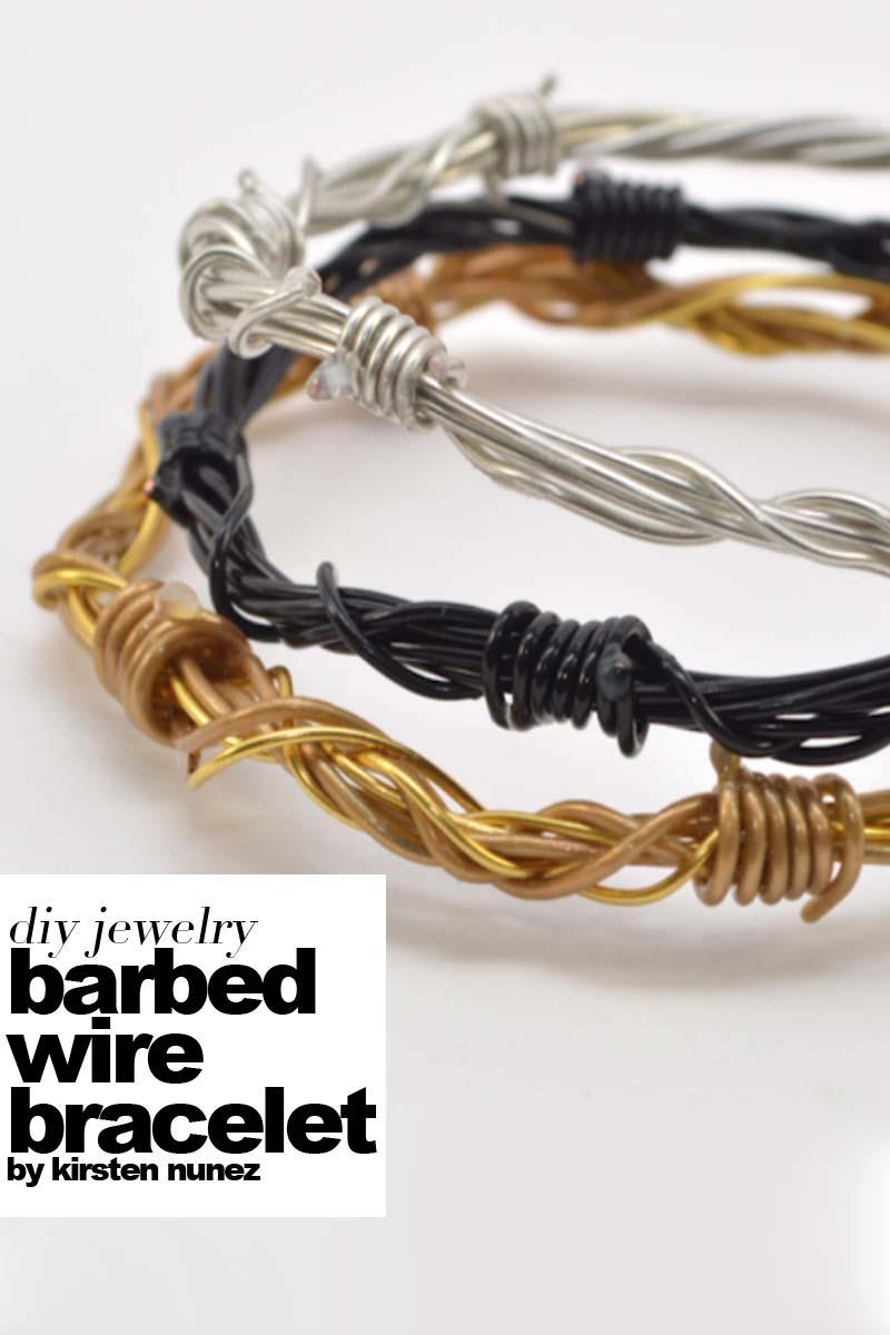 diy barbed wire bracelet - Outi Les Pyy Outi Les Pyy