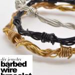 diy barbed wire bracelet