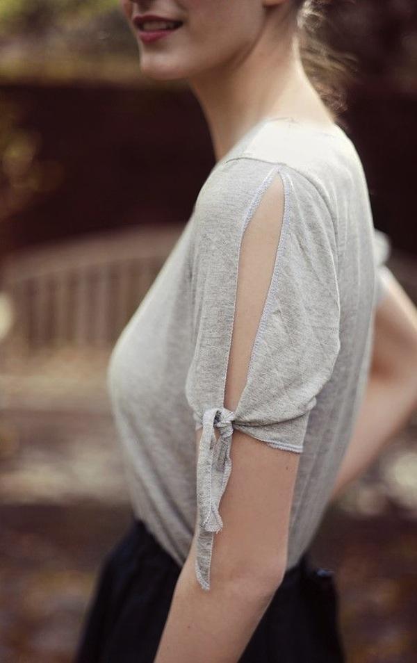Solmittavat hihansuut : tied t-shirt sleeves