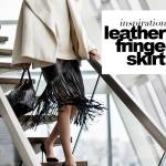 DIY fringe leather skirt